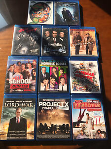 12 Blu Rays for $25