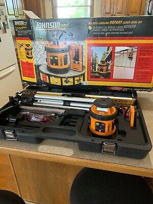 Johnson Self Leveling Rotary Laser Level Kit 40-6517