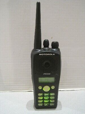 Motorola Pr400 Uhf 403-440 Two Way Radio Aah65qdh9aa4an Wkeypad