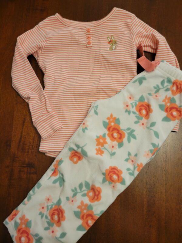 Girls Carters Two Piece Bunny Pajama Set Size 3t