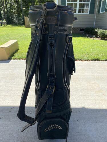 Callaway Big Bertha Canvas/Leather Golf Bag Green/Navy Blue - $24.00