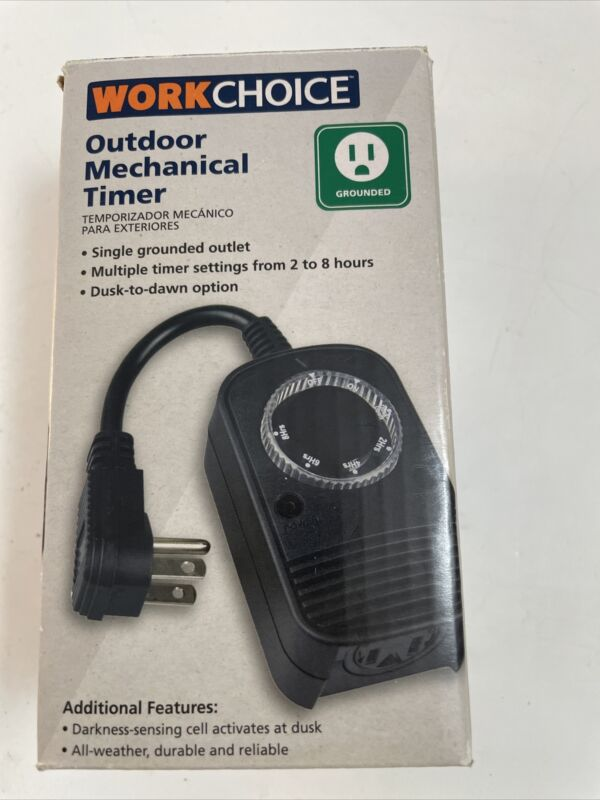 Work Choice Outdoor Mechanical Timer Single Grounded