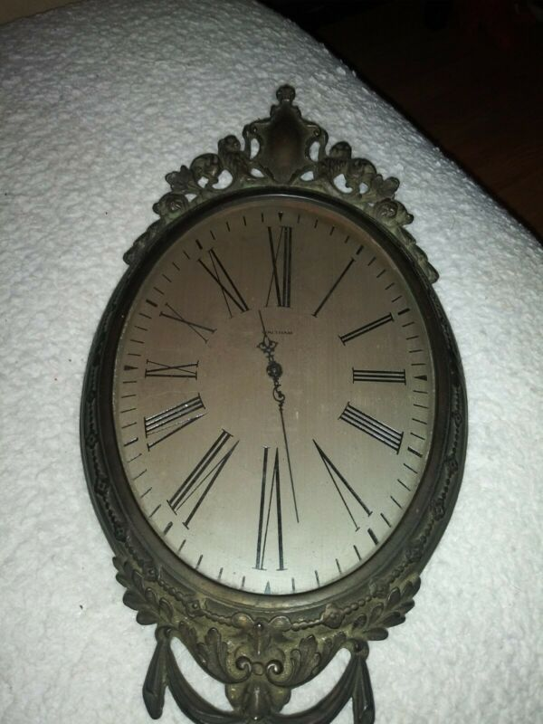 19th Century Waltham Bronze Wall Clock