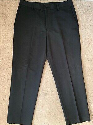 Kenneth Cole Reaction Mens Black Pinstripe Dress Pants Flat Front 36 x 30 Black Pinstripe Dress Pants