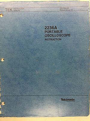 Tektronix 2236a Portable Oscilloscope Instruction Manual Pn 070-7685-00