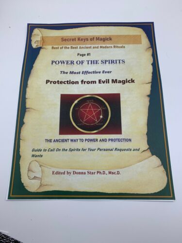 Book of Shadows PROTECTION FROM EVIL MAGICK Spell Best Spells Magick