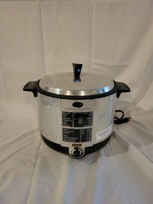 Vintage Sunbeam Deep Fryer Cooker Model TCF-6