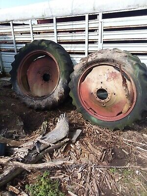 15.5 X 38 Tractor Dual Tire Rims Pressed Steel Rims Tires No Good For 9 Bolt Hub