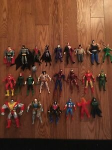 Collection of super hero figures