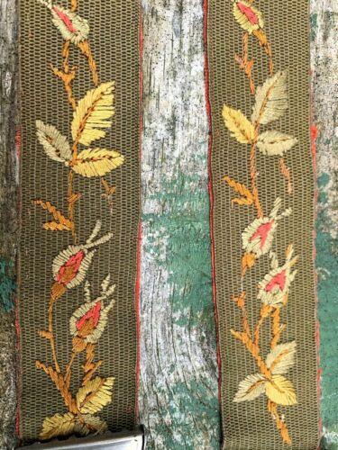 Circa 1860 Boys Victorian English Braces Embroidered Super Rare Suspenders!