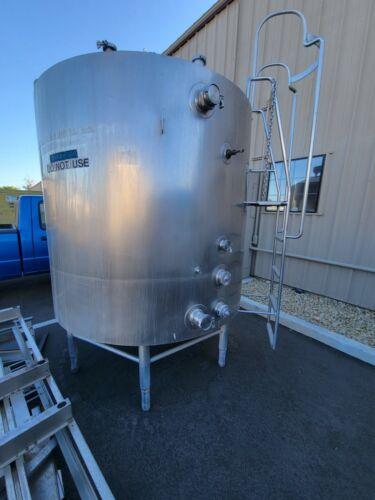 800 Gallon Mueller Vat Pasteurizer Stainless Tank - Wine, Beer, Milk