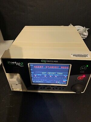 Criticare Systems Poet Iq2 8500q Anesthesia Agent Gas Monitor 30 Day Warranty