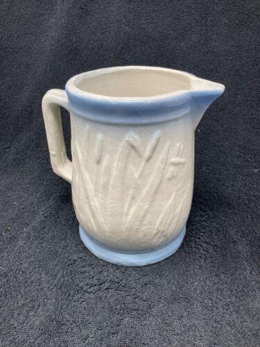 Old Original BlueAnd White Stonware Cattail Pitcher - $65.00