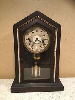 Vintage Wind Up Mechanical Kitchen Mantle Clock-Parts Or Repair