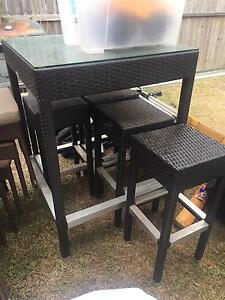 Outdoor wicker bar setting Tingalpa Brisbane South East Preview