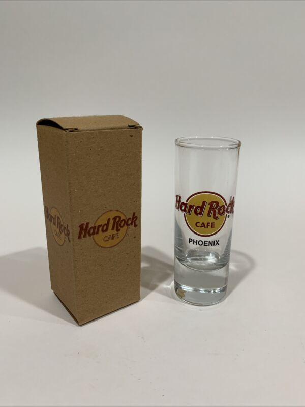 Hard Rock Cafe Phoenix Save the Planet Classic Logo Tall Double Shot Glass