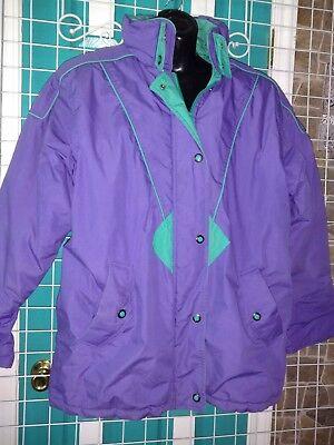 Vintage Women s Cabin Creek Ski Shell Jacket Coat Medium 8-10 90 s Purple  Green 31e039606