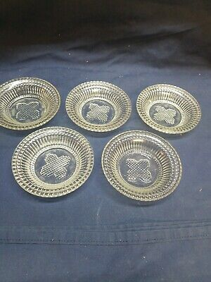 Set of 5 EAPG Flint Sauce Honey Dishes cup -