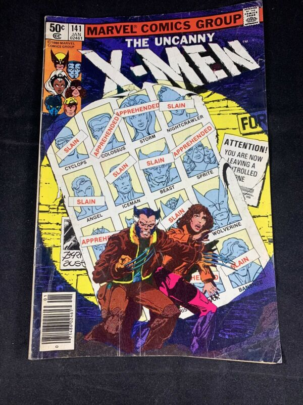 The Uncanny X-men Vol. 1 No. 141 Marvel Comics January 1981 Newsstand J. Byrne