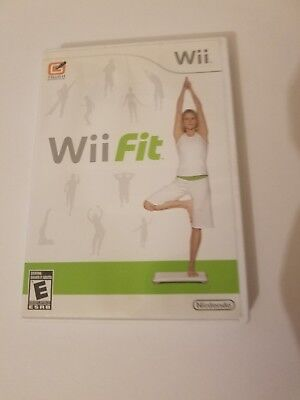 Wii Fit (Nintendo Wii, 2008) GAME COMPLETE FITNESS WORKOUT EXERCISE YOGA FUN!