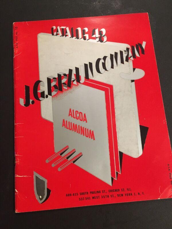 Vintage JG Braun Catalog 48 Alcoa Aluminum Architecture Fixtures Chicago