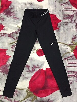Ladies Black Nike Pro Dri Fit Sport Leggings Size XS