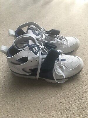 Pre Owned Vintage Mens 2004 Nike Trainer Huarache Light Grey/Navy Blue Size 10.5
