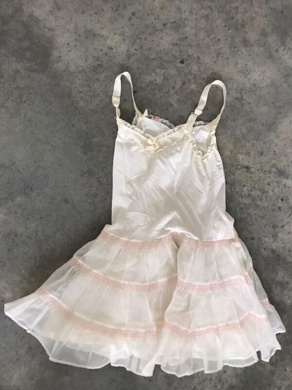 Her Majesty Girls Kids Childrens White Ivory Slip Dress Size Age 6
