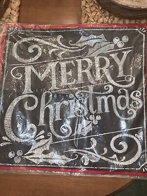 Pottery Barn Merry Christmas 20x20 Pillow Cover