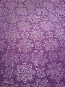 Retro purple embroidered king size throw rug Tighes Hill Newcastle Area Preview