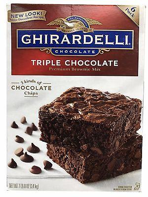 Kosher Brownie - GHIRARDELLI Triple Chocolate Brownie Mix 7.5 lb Large Box 120 oz