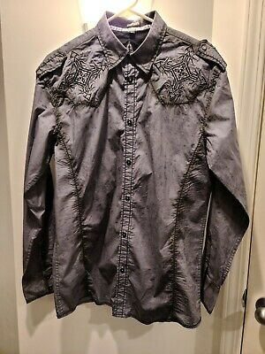Roar Buckle Affliction style Designer Button Down