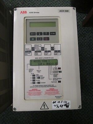 Abb Ach501 Ac Drive Ach501-007-4-00p2 7.5hp 3ph Used