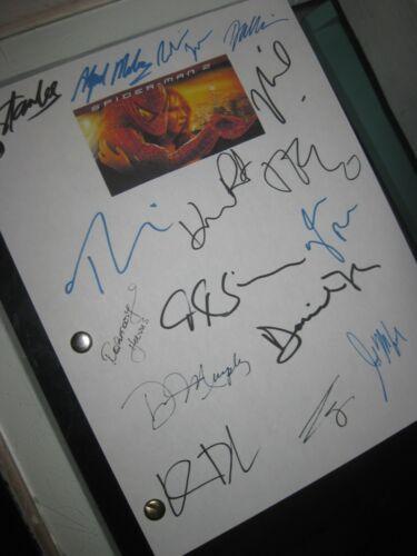 Spider-Man 2 Signed Film Script X16 Stan Lee Tobey Maguire Kirsten Dunst 2004 RP