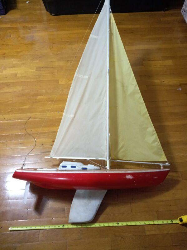 Vintage RC sailboat Huge 3ft by 5ft electronics inside no remote