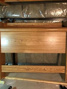 Twin bed headboard dresser and nightstand