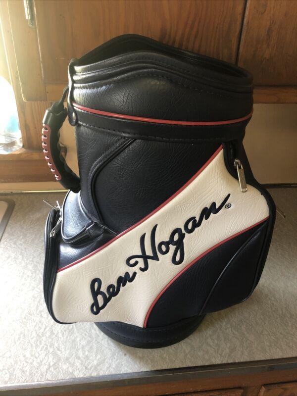 Ben Hogan Leather Emroided Golf Bag. Nice. Man Cave. Driving Range. 20x14x10.