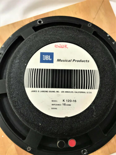 JBL K120 SPEAKER NEWLY RECONED WITH A D120 KIT (DUANE ALLMAN TONE)
