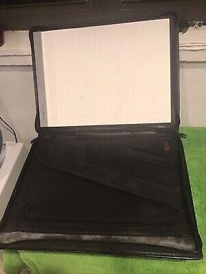 Tumi Vintage Leather Portfolio Organizer Planner W Notepad 10 X 13