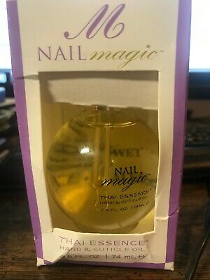 Nail Magic Thai Essence Hand & Cuticle Oil 2.5 fl oz (74 mL) damaged box