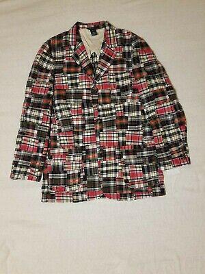 Polo Ralph Lauren Men's Madras Plaid Blazer Sport Suit Coat Jacket XL