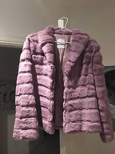 Genuine Rabbit Fur Jacket Mauve Vintage Glen Osmond Burnside Area Preview