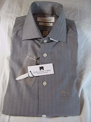 Nwt Collection By Michael Strahan Long Sleeve Dress Shirt  Reg  Grey Herringbone