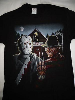 Freddy Krueger and Jason Voorhees Camp Crystal Lake Elm Street T-Shirt