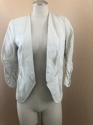 H&M Womens Blazer Jacket color Beige size 8