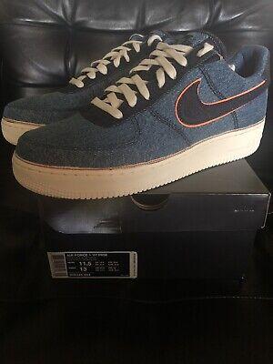 Nike Air Force 1 Low 3x1 Denim Stonewash Men Sneakers Size US 11.5 (905345-403)