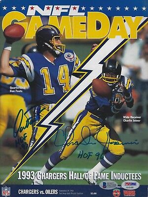 Dan Fouts Charlie Joiner Signed 1993 Chargers Football Game Program PSA/DNA BAS
