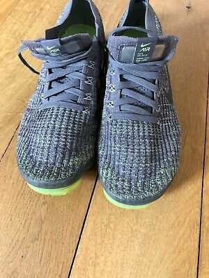 Men's Nike Vapormax  Flyknit Grey/neon Green Sz 8
