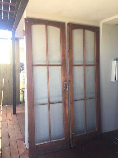 Double Doors Jarrah French Doors & Solid Jarrah French Doors | Building Materials | Gumtree Australia ...