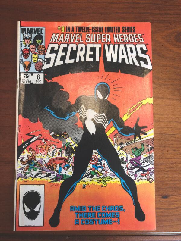 Marvel Super Heroes Secret Wars 8 1984 Spider-Man First black suit